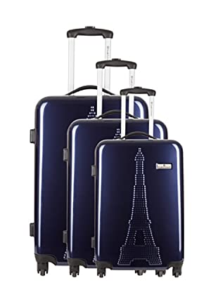 Platinium 3er Set Trolley 4 Rollen Paris (Marine)