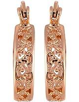 Coral by POKA Non-Precious Metal Gold Hoop Earrings for Women (POKA_J_096_Gold)