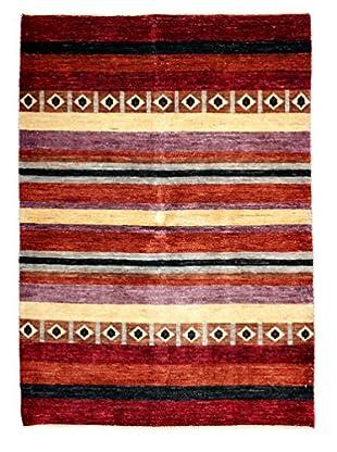 Darya Rugs Modern Oriental Rug, Red, 4' 2