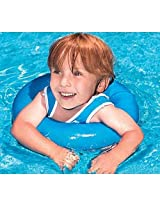 Blue Tank Top Swimsuit With Inflatable Inner Tube
