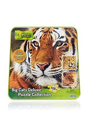 National Geographic Puzzle Wild Big Cats Deluxe Único Mayores de 3 años