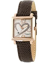 Stuhrling Original Women's 253.1145K2 Amour Aphrodite Courtly Diamond Swiss Quartz Brown Leather Strap Watch