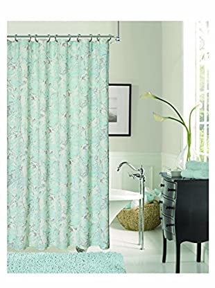 Dainty Home Tweet Shower Curtain, Blue