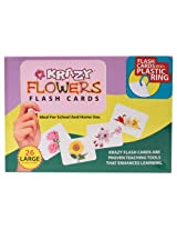 Krazy Flowers - Flash Cards With Ring