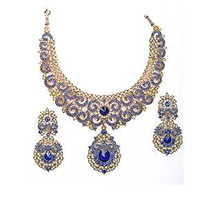 Amarsonns Jewels copper Choker For Women (Blue)