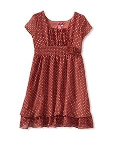 Hype Girl's Sweet Dot Dress (Coral)