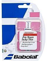 Babolat 653030-156 Pro Team Tacky Thin Overgrip (Pink)