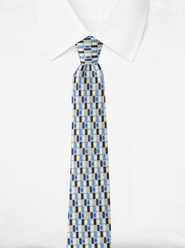 Emilio Pucci Men's Grid Tie, Blue/Green