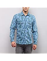 Yepme Men's Medium Wash Cotton Denim Shirt - YPMSHRT0641_40