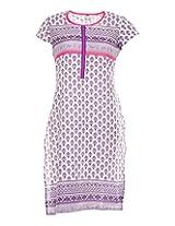 Vinorisa Girl's Cotton Regular Fit Kurti (Purpel, 44)
