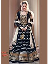 Admyrin Womens Georgette Black X-Large Anarkali Suit