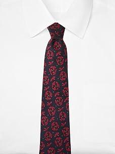 Hermès Men's Floral Tie, Dark Navy/Purple, One Size