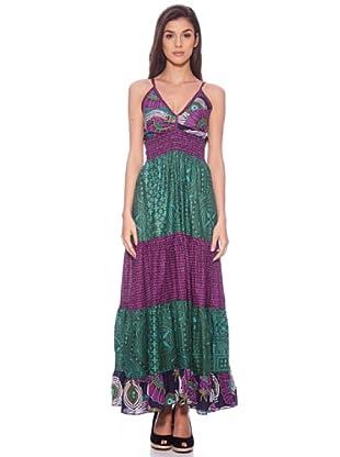 Sigris Vestido Paisley (Morado / Verde)