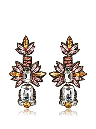 Suzanna Dai Blush & Champagne Lotus Drop Earrings