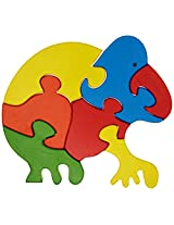 Skillofun Take Apart Baby Puzzle Large -Frog, Multi Color