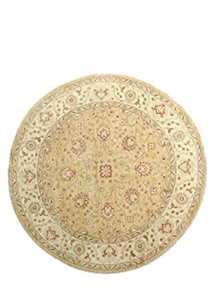 Bashian Rugs One-of-a-Kind Hand Knotted Mansehra Rug, Gold, 8' Round
