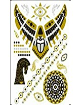 Metallic Gold Silver Black Jewelry Inspired Temporary Bling Tattoo by Eufouria Inc. YW-041