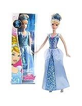 Mattel Year 2014 Disney Sparkling Princess Series 12 Inch Doll Princess Cinderella (Cfb72) In Sparkling Blue Dress With Tiara
