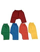 Zero Baby Diaper Leggings (Pack Of 5) (Red Green Blue_0-3 Months)