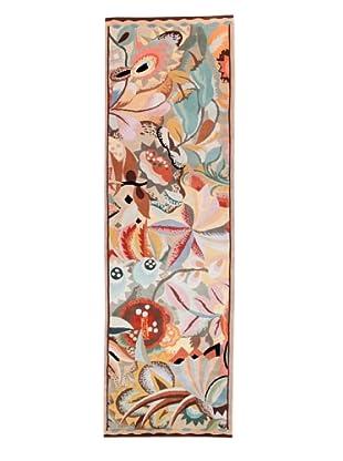 Roubini Art Deco Hand Knotted Wool & Silk Rug, Multi, 3' x 10' Runner