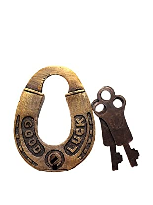 Locks of Love Vintage Inspired Horseshoe Shaped Padlock, c1960s