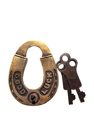 Locks of Love Vintage Inspired Horseshoe Shaped Padlock, c1960s