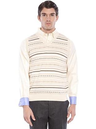 Hackett Chaleco Punto (beige / marrón)