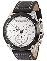 Lancaster Trendy Leather Strap Analogue White Men's Wacth-OLA0380L/BN