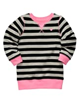 Carter's Baby Girls Stripe Knit Pullover Top (5t, Pink, Black Gray)