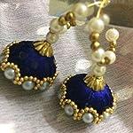 Blue Plastic Pearl Traditional Jhumki Earring