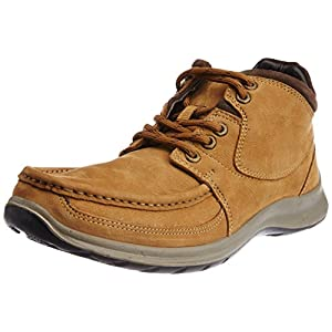 Woodland Brown Leather Men's Boots - 9 UK