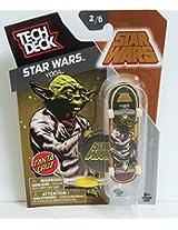 Tech Deck Star Wars Yoda Santa Cruz Fingerboard 2/6 W Display Stand & Sticker