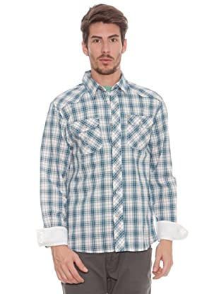 Timeout Camisa Cuadros (blanco / azul)
