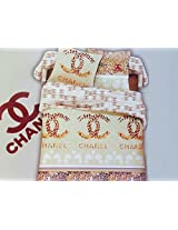 EMPORIO BRANDED BEDSHEET 100% COTTON WITH PILLOW COVERS,CHANEL BRAND