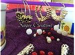 Pearl n crystal hoop earrings by Sayee Creation