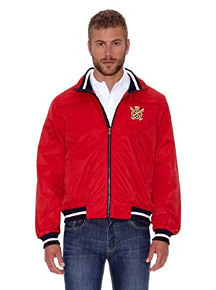 Polo Club Chaqueta Micro Zipper (Rojo)