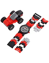 LEGO Kids 4271021 Racers Plastic Watch with Link Bracelet and Racecar