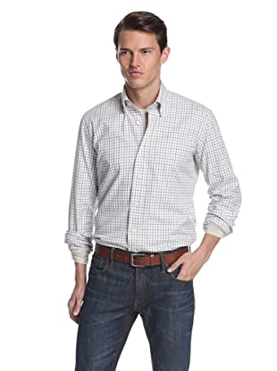 Nikky Men's Regular Fit Hand-Made Shirt (Lilac/Blue Check)