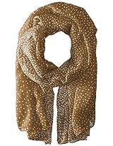 Saro Lifestyle Women's Dot Design Printed Scarf, Olive, One Size