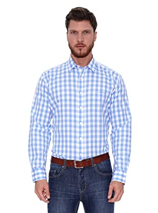 Spagnolo Camisa Rodas (Azul / Blanco)