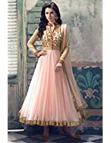 Shree Fashion Woman's Net With Dupatta [Shree (84)_Pink]