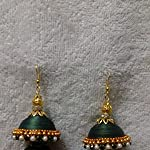 Metallic Paper Gold Plated Crystal Traditional Jhumki Earring