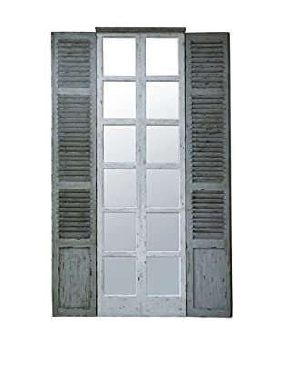 Winward Shutter Window, Narrow, Distressed White