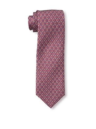Rossovivo Men's Link Tie, Red