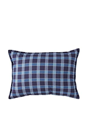 Tommy Hilfiger Shelburne Paisley Breakfast Pillow, Navy Plaid, 14
