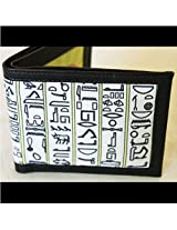 Wallet Egyptian Hieroglyphs By Poppuri