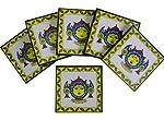 Indispash Handpainted Bhagwati Coasters