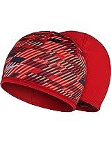 Nike Unisex Run Hazard Beanie University Red/Black/Reflective Silver One Size