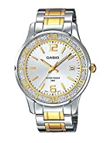 Casio Golden And Silver Metal Analog Women Watch A901
