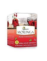 Moringa Rose Infusion - 20 Tea bags / Box - Organic Certified